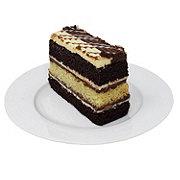 H-E-B Triple Chocolate Tiger Cakerie Cake Slice