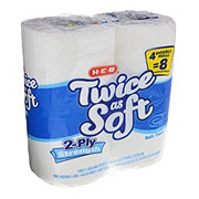 H-E-B Twice as Soft Double Rolls Bath Tissue