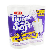 H-E-B Twice As Soft Plus To-Go-Rolls Double Roll Bath Tissue