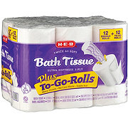 H-E-B Twice As Soft Plus To-Go-Rolls Double Roll Toilet Paper