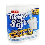 H-E-B Twice As Soft Plus To-Go-Rolls Toilet Paper