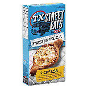 H-E-B TX Street Eats Nine Cheese Twisted Pizza
