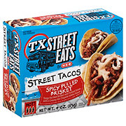 H-E-B TX Street Eats Street Taco Spicy Pulled Brisket