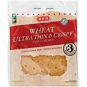H-E-B Ultra Thin and Crispy 100% Whole Wheat 7 Inch Pizza Crusts