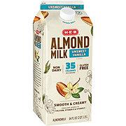 H-E-B Unsweetened Vanilla Almondmilk