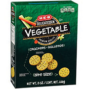 H-E-B Vegetable Entertainer Crackers Bite Size