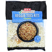 H-E-B Veggie Toss Kit Caulibits with Mushroom Garlic Sauce
