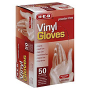 H-E-B Vinyl One Size Fits Most Gloves