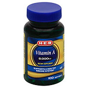 H-E-B Vitamin A 8000 IU Softgels