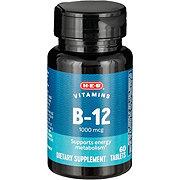 H-E-B Vitamin B-12 1000 mcg Tablets