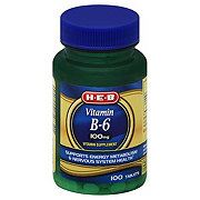 H-E-B Vitamin B-6 100 mg Tablets