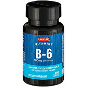 H-E-B Vitamin B-6 100 mg Tablets