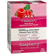 H-E-B Vitamin C Powder, Raspberry