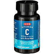 H-E-B Vitamin C with Rose Hips 500 mg Tablets