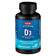 H-E-B Vitamin D 2000 IU Softgels