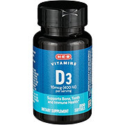 H-E-B Vitamin D 400 IU Softgels