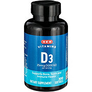 H-E-B Vitamin D3 1000 IU Rapid Release Softgels