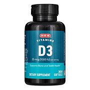 H-E-B Vitamin D3 1000 IU Rapid Release Softgels