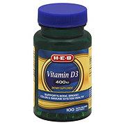 H-E-B Vitamin D3 400 IU Rapid Release Softgels