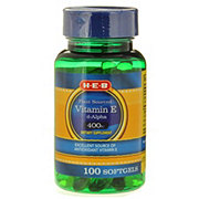 H-E-B Vitamin E 400iu Natural D-alpha Softgels
