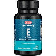 H-E-B Vitamin E 400iu Natural D-alpha Softgels