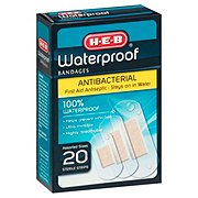 H-E-B Waterproof Bandages, Assorted