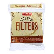 H-E-B White #4 Cone Coffee Filters