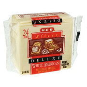 H-E-B White American Deluxe Cheese Slices