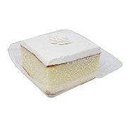 H-E-B White Cake Slice with Buttercream Icing