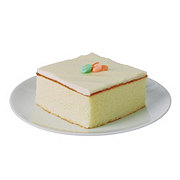 H-E-B White Cake Slice with French Buttercream