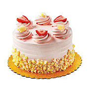 H-E-B White Cake with Strawberry Bettercreme Icing