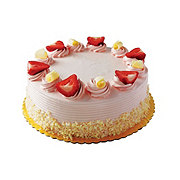 H-E-B White Cake with Strawberry Buttercream Icing