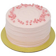 H-E-B White Cake with Strawberry French Buttercream