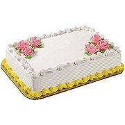 H-E-B White Cake with Vanilla Ice Cream