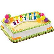 H-E-B White Cake with Vanilla Ice Cream & Deco