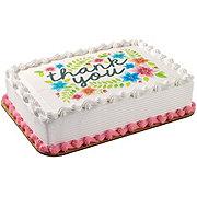 H-E-B White Cake with Vanilla Ice Cream & Edible Image