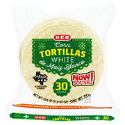 H-E-B White Corn Tortillas with Convenient Resealable Bag