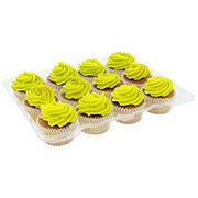 H-E-B White Cupcakes with Yellow Buttercream Icing