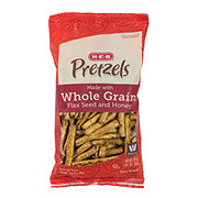 H-E-B Whole Grain, Flax Seed and Honey Pretzels