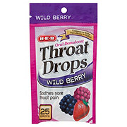 H-E-B Wild Berry Throat Drops
