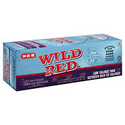 H-E-B Wild Red 20 Calorie Pure Cane Sugar Soda 12 oz Cans