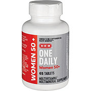 H-E-B Women's 50+ Advanced One Daily Multivitamin/Multimineral Tablets
