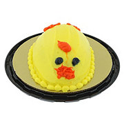 H-E-B Yellow Egg Shaped Cake with Buttercream