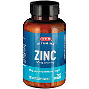 H-E-B Zinc Gluconate 50 MG Natural Caplets