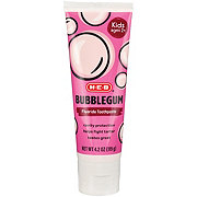 H-E-Buddy Bubble Gum Cavity Protection Fluoride Toothpaste