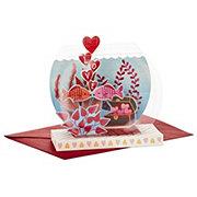 Hallmark Fish Bowl Paper Wonder Displayable Pop Up Valentine's Day Card #11
