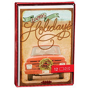 Hallmark Happy Holidays Red Truck Boxed Card Set
