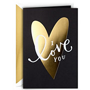 Hallmark Large Gold Foil Heart Signature Valentine's Day Greeting Card #4