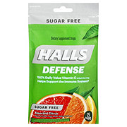 Halls Defense Defense Sugar Free Assorted Citrus Vitamin C Drops