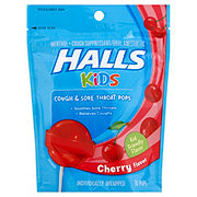 Halls Kids Cherry Cough & Sore Throat Lollipops